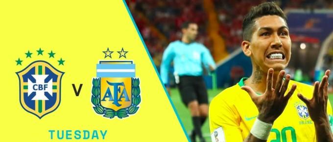 Speltips Brasilien - Argentina